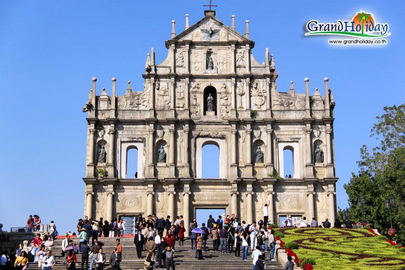 เที่ยวมาเก๊า ชมโบสถ์เซนต์ปอล โรงเรียนสอนศาสนาแห่งแรกของเอเชีย