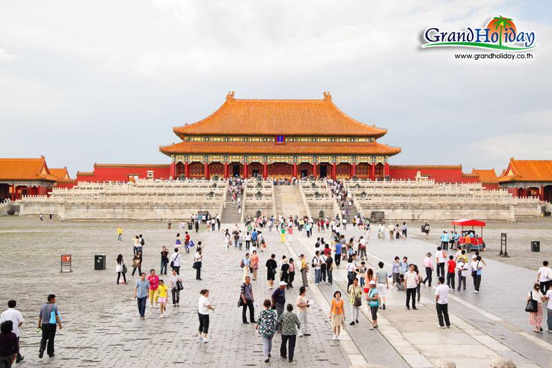 พระราชวังต้องห้ามแห่งกรุงปักกิ่ง เมืองจีน