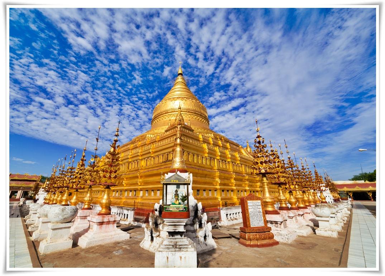 พม่า-พุกาม-มัณฑะเลย์-ล่องเเม่น้ำอิระวดี-สกายน์-มิงกุน-(บินภายใน)-4วัน-3คืน(FD)JAN-APR18(MMR05)