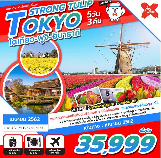 สงกรานต์ ทัวร์ญี่ปุ่น  TOKYO STRONG TULIP 5D3N (APR'19)  AZNRT14