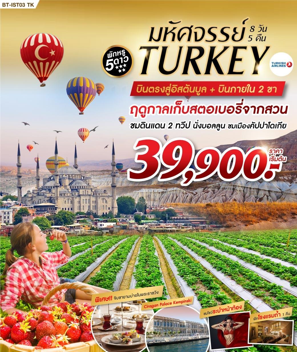 ทัวร์ตุรกี-มหัศจรรย์-ตุรกี-บินภายใน-ฤดูกาลเก็บสตรอเบอรี่-8D5N-(AUG-NOV19)(TK)(BT-IST03_TK)