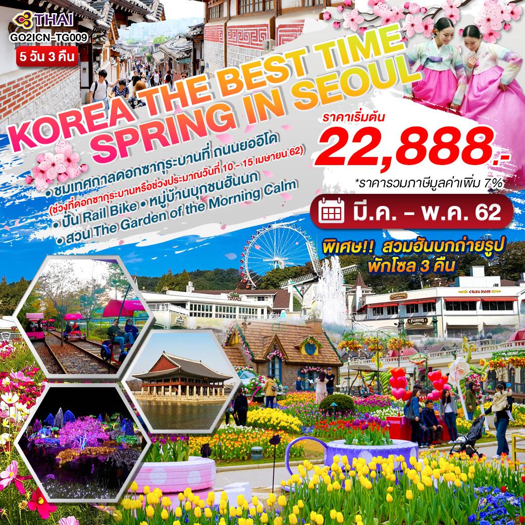 ทัวร์เกาหลี-The-Best-Time-Spring-in-Seoul-5-วัน-3-คืน-(APR-MAY'19)-GO2ICN-TG009