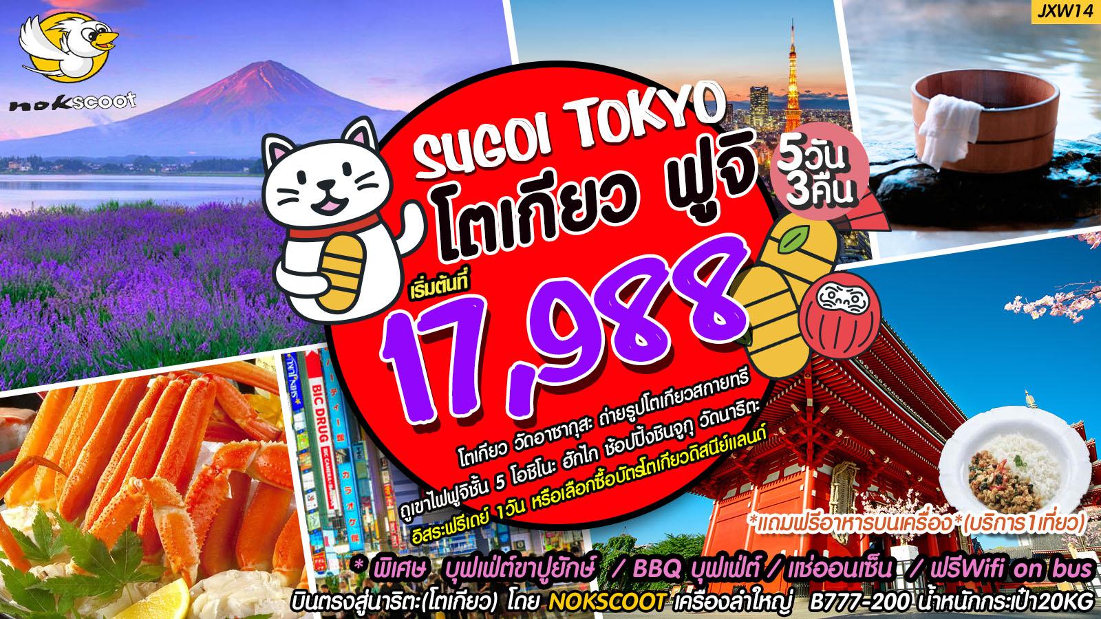 ทัวร์ญี่ปุ่น-Sugoi-Tokyo-โตเกียว-ฟูจิ-5D-3N-(JXW14)-(JUL-SEP18)