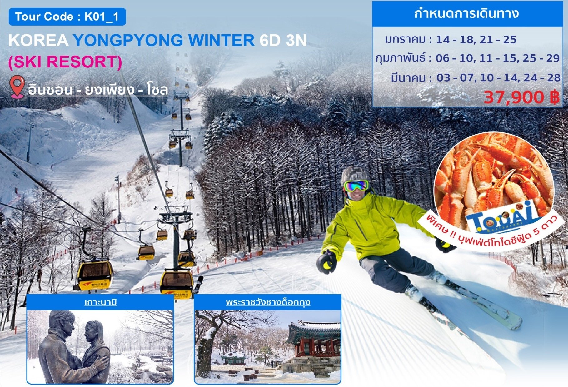 ทัวร์เกาหลี-KOREA-YONGPYONG-WINTER-SKI-RESORT-6D-3N-(TG)-(JAN-MAR20)-(K01_1)