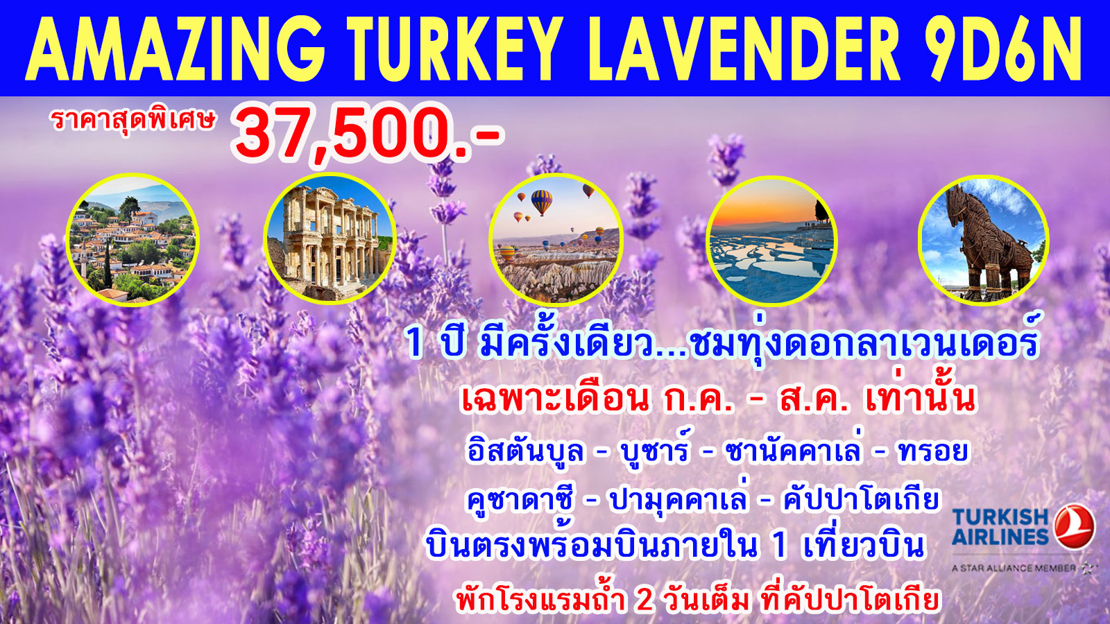 ทัวร์ตรุกี-Amazing-Turkey-Lavender-9D6N-(JUL-AUG20)