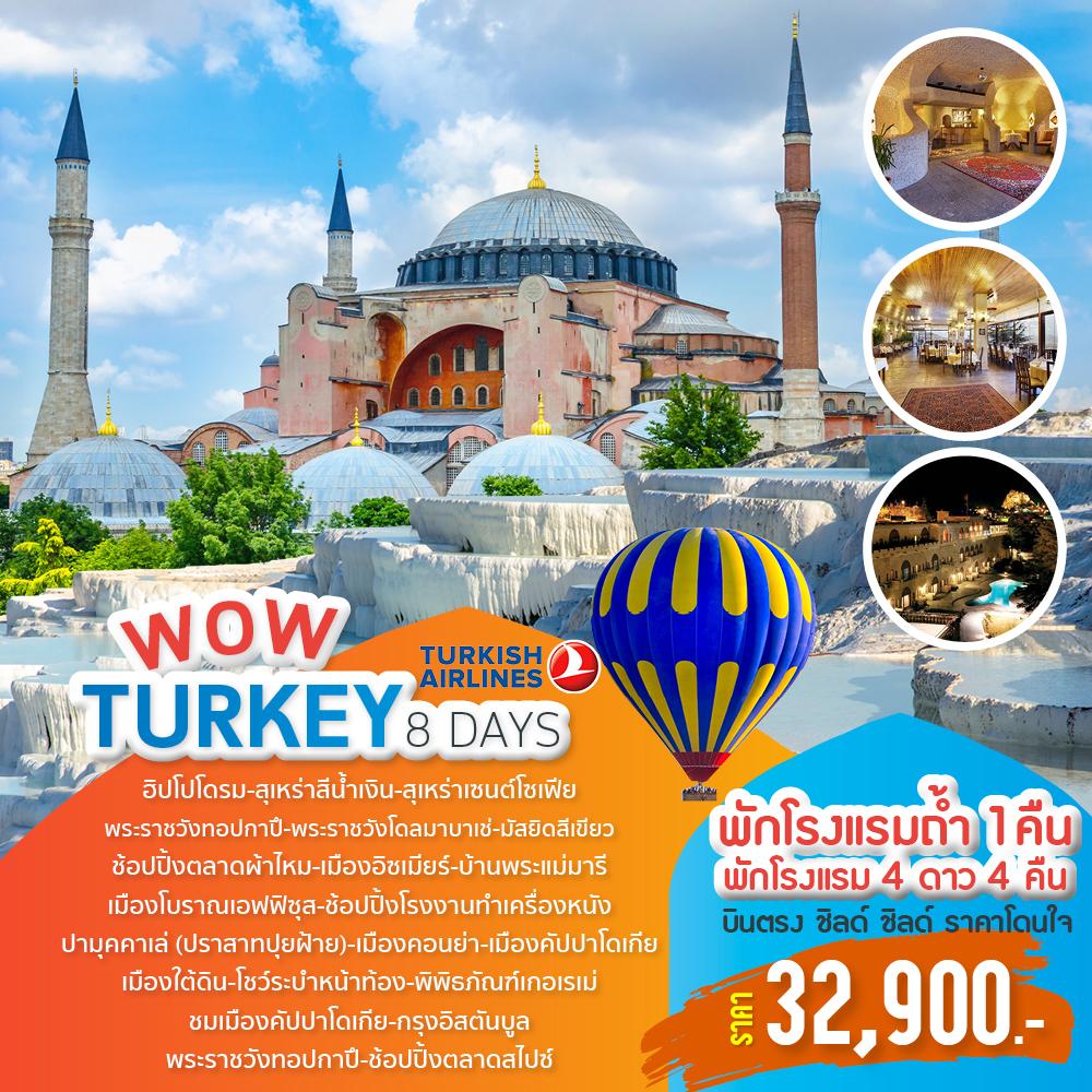 ทัวร์ตุรกี WOW Turkey  8 Days by TK 2019 (MAR19)